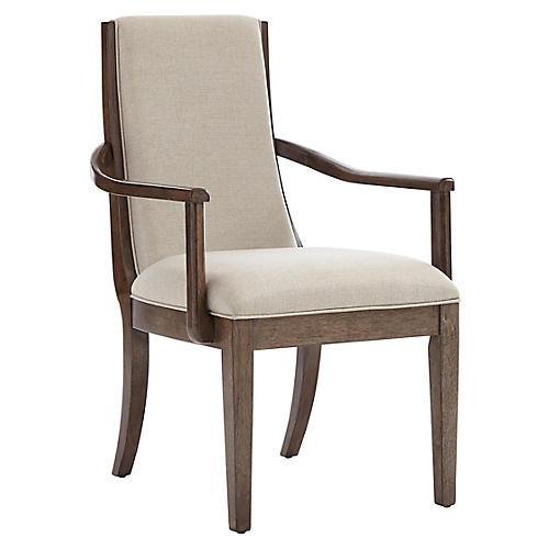 Madagascar Armchair, Quicksilver/Ivory Linen