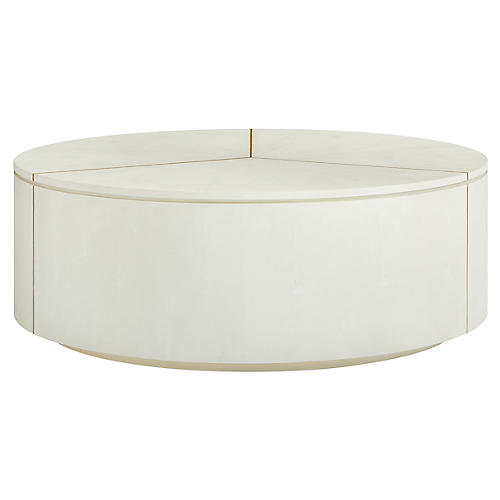 Sundial Coffee Table, Pearl