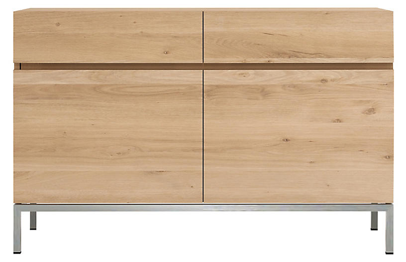 Ligna 2-Drawer Sideboard, Oak