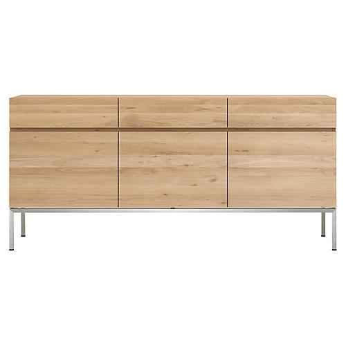 Ligna 3-Drawer Sideboard, Oak