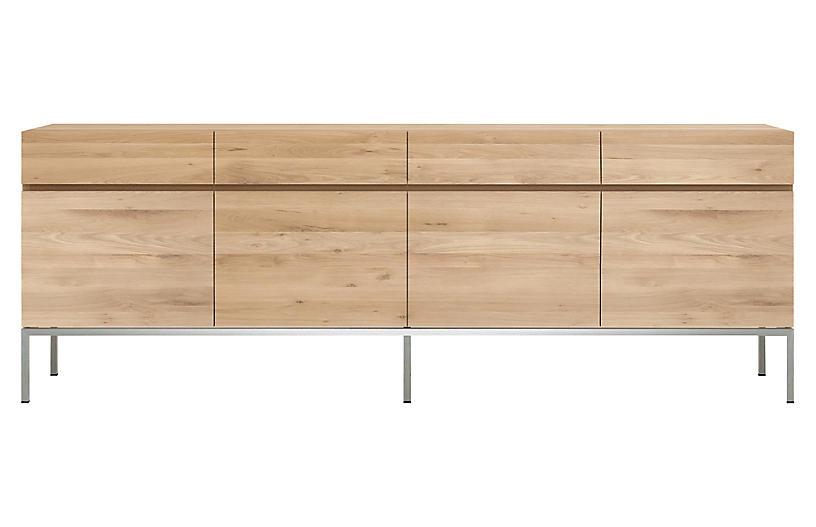 Ligna 4-Drawer Sideboard, Oak