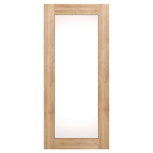 Oak Floor Mirror, Brown