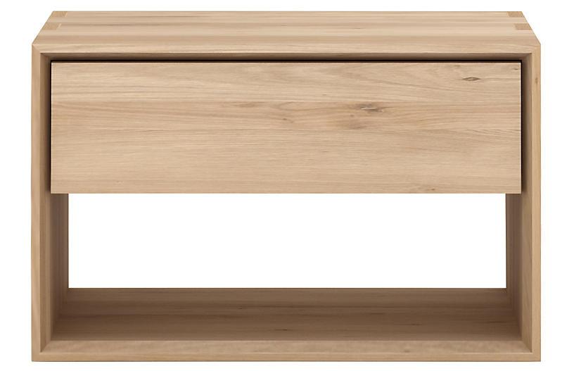 Nordic II Nightstand, Oak