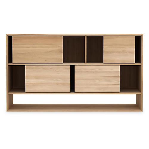 Nordic Low Rack Sideboard, Oak