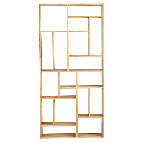 Mondrian Bookcase, Oak