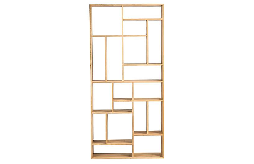 Mondrian Bookcase, Oak