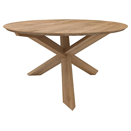Circle Dining Table, Oak