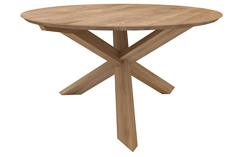 Circle Dining Table, Oak