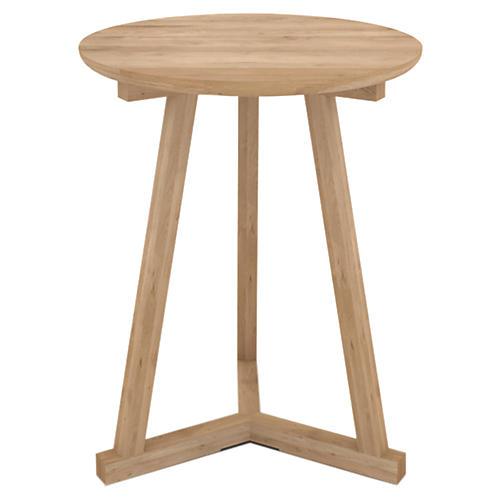 Tripod Tall Side Table, Oak