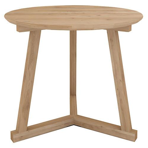 Tripod Side Table, Oak