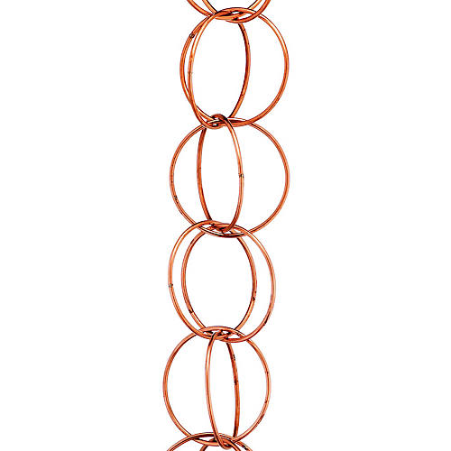 "102"" Westerly Double-Link Rain Chain, Copper"