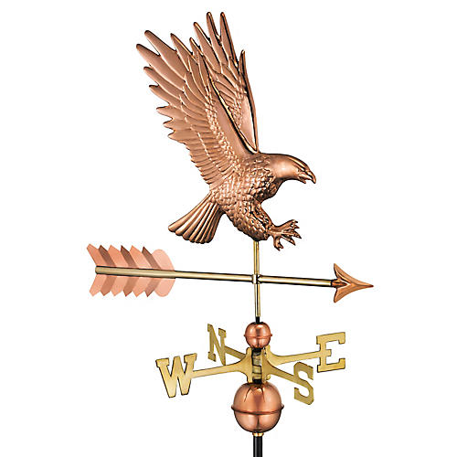 "43"" Bald Eagle Weather Vane, Copper"