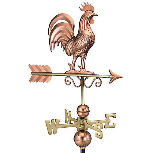 """36"""" Bantam Rooster Weather Vane, Copper"""