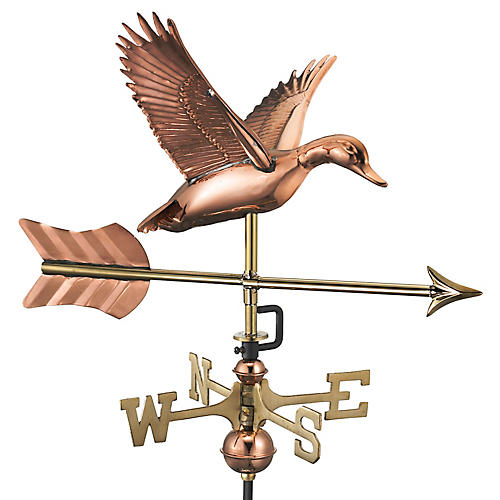 "26"" Duck & Arrow Cottage Weather Vane, Copper"