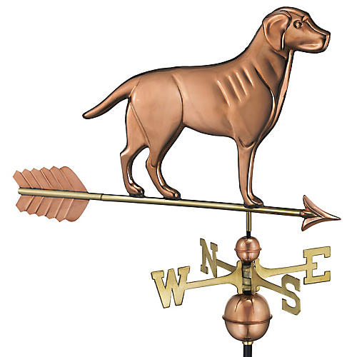 "37"" Retriever & Arrow Weather Vane, Copper"
