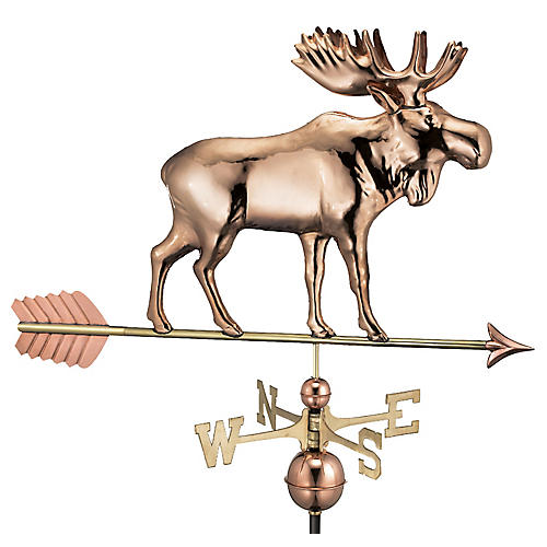 "40"" Moose & Arrow Weather Vane, Copper"
