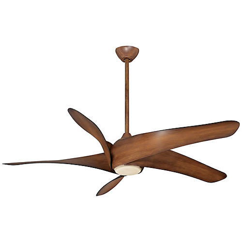 Artemis XL5 LED Ceiling Fan, Distressed Koa