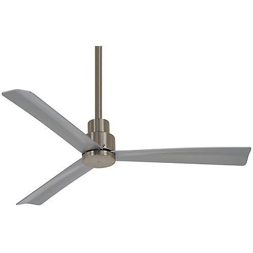 Simple Ceiling Fan, Brushed Nickel Wet