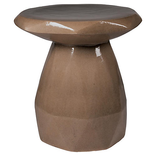 Geo Outdoor Stool, Taupe