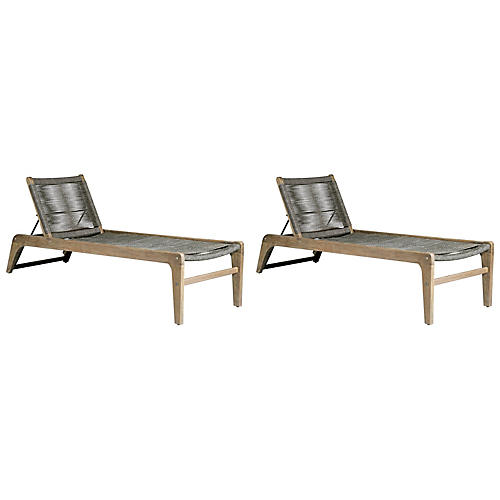 S/2 Oceans Loungers, Gray