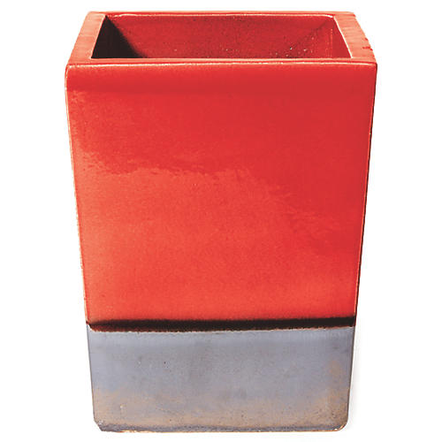 Cube Planter, Red