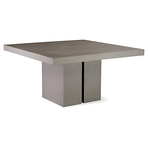 Delapan Concrete Dining Table, Gray
