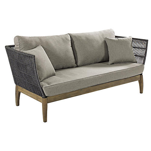 Wings Outdoor Sofa, Gray