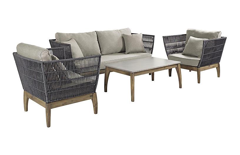 Wings 4-Pc Lounge Set, Gray
