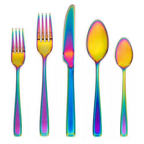 20-Pc Clea Flatware Set, Rainbow