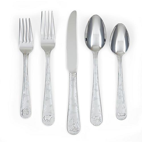 20-Pc Cyril Flatware Set, Silver