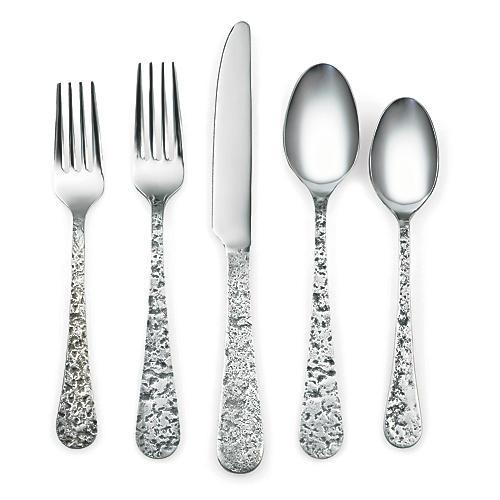 20-Pc Krige Flatware Set, Silver