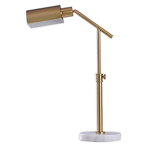 Preston Pharmacy Table Lamp, Brass/Marble