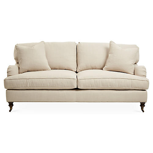 Brooke Sofa, Natural Herringbone