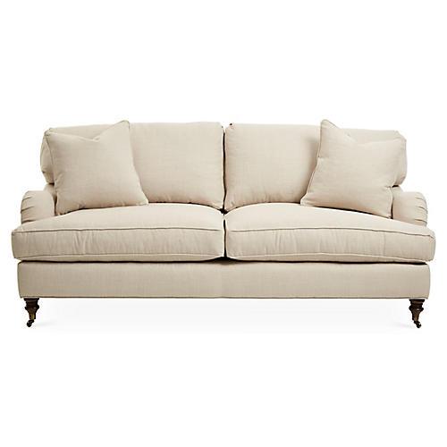 Brooke Sleeper Sofa, Natural Herringbone