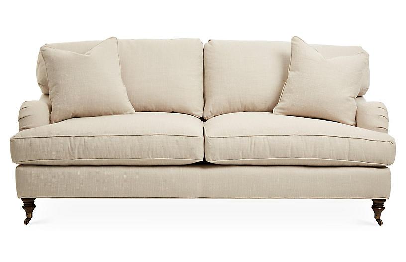 Strange Brooke Sleeper Sofa Natural Herringbone Creativecarmelina Interior Chair Design Creativecarmelinacom