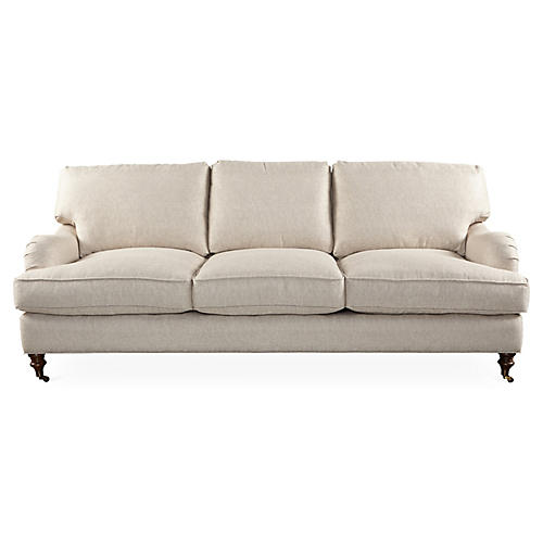 Brooke 3-Seat Sofa, Beige Sunbrella