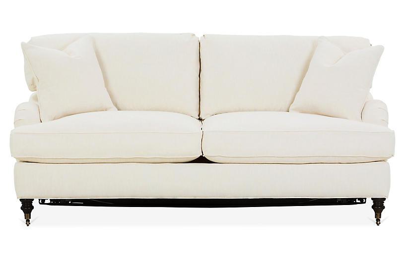 Awesome Brooke Sleeper Sofa Ivory Crypton One Kings Lane Brands Uwap Interior Chair Design Uwaporg