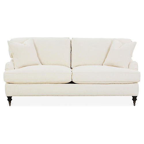 Brooke Sofa, Ivory Crypton