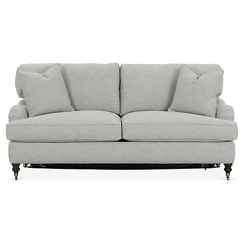 Brooke Sleeper Sofa, Mist Crypton