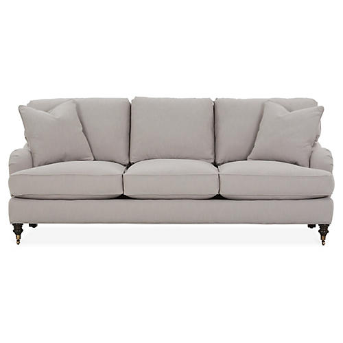 Brooke 3-Seat Sofa, Greige Crypton