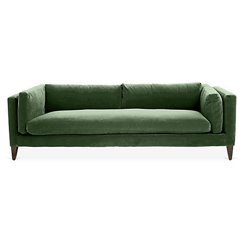 Everleigh Sofa, Emerald Velvet