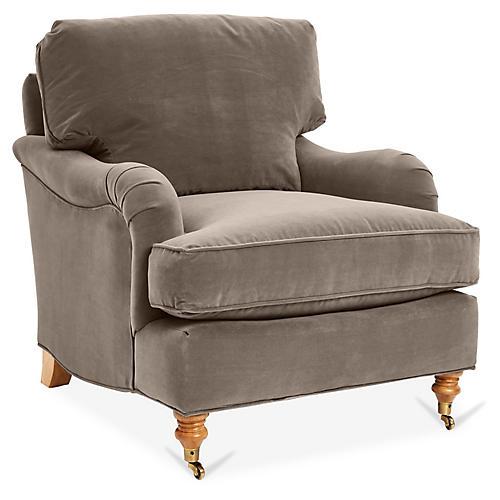 Brooke Club Chair, Café Velvet