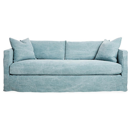 Shaw Slipcover Sofa, Chambray Linen