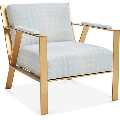 Bergen Accent Chair, Light Blue