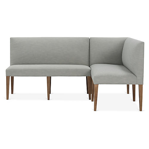 Reeves Right-Facing Banquette, Mist Crypton