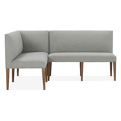 Reeves Left-Facing Banquette, Mist Crypton
