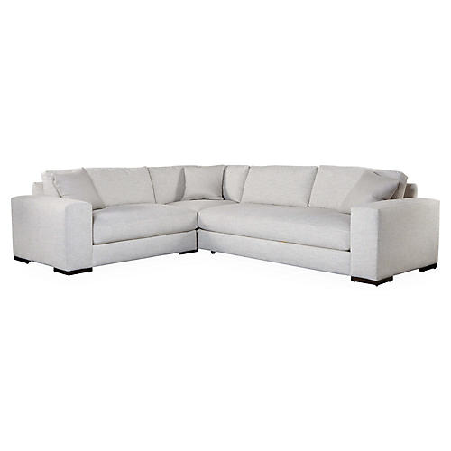 Maddox Left-Facing Sectional, Pearl