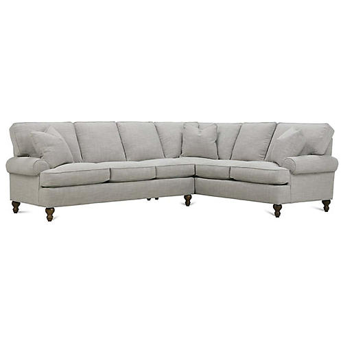 Cindy Right-Facing Sectional, Putty