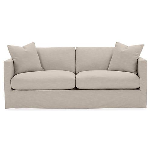 Shaw Slipcover Sofa, Greige Crypton