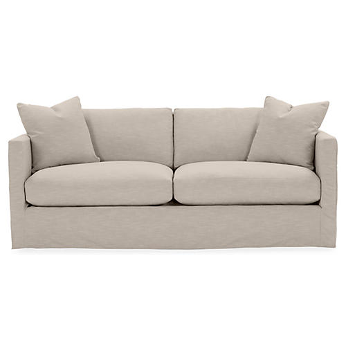 Shaw Slipcover Sofa, Greige Crypton